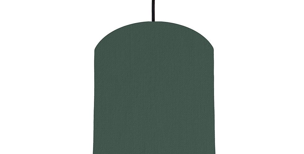 Bottle Green & Dark Grey Lampshade - 20cm Wide