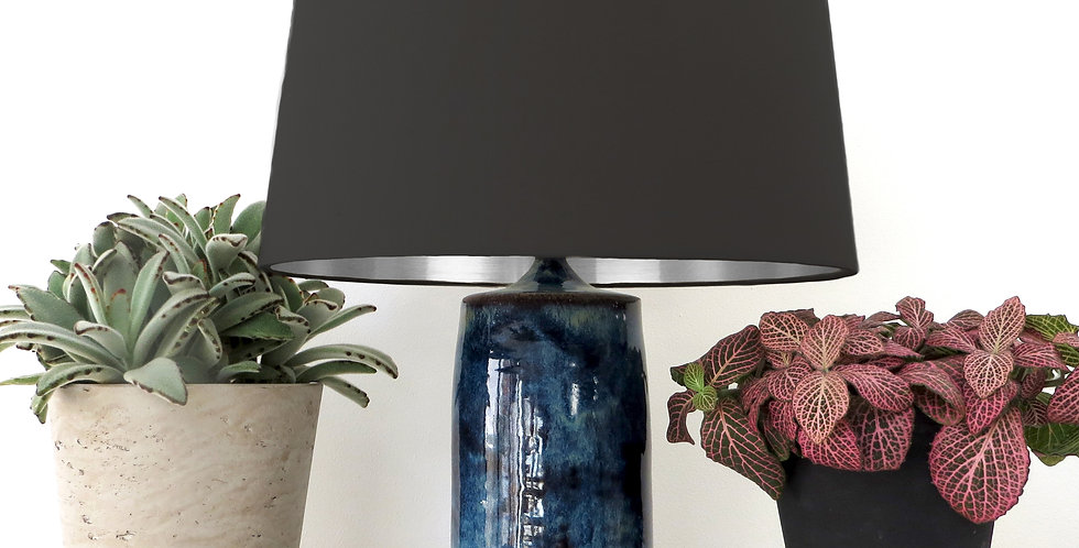 Conical Lampshade (30Tx35Bx30H) -  Silver Mirror Lining