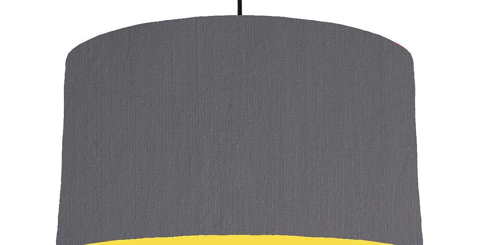 Dark Grey & Butter Yellow Lampshade - 50cm Wide