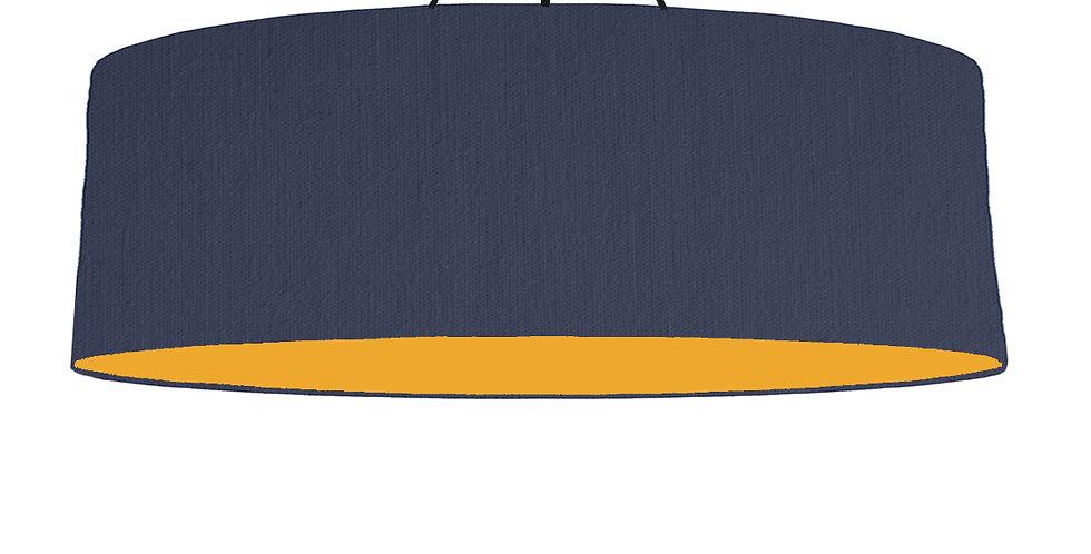 Navy Blue & Mustard Lampshade - 100cm Wide