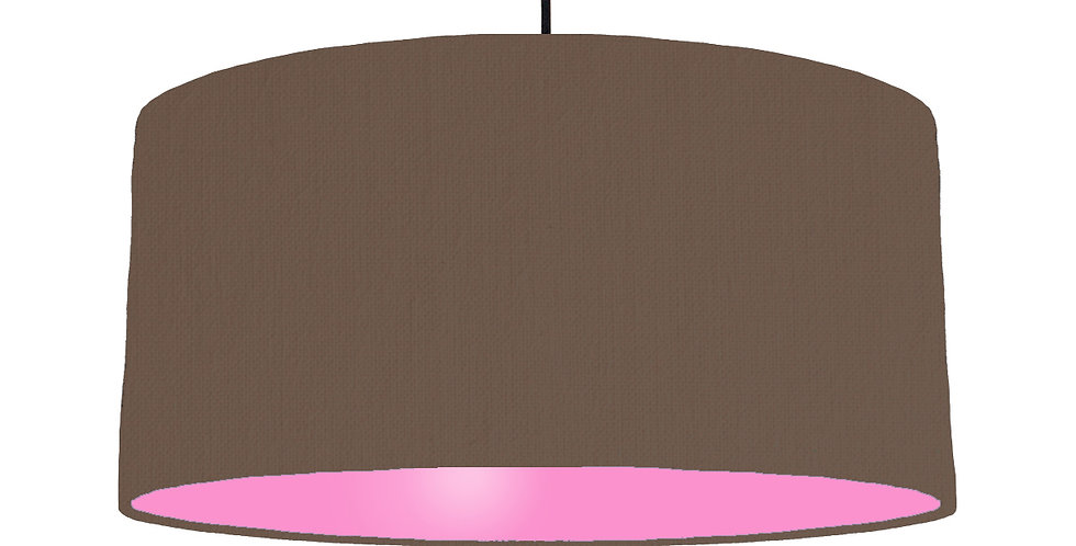 Brown & Pink Lampshade - 60cm Wide