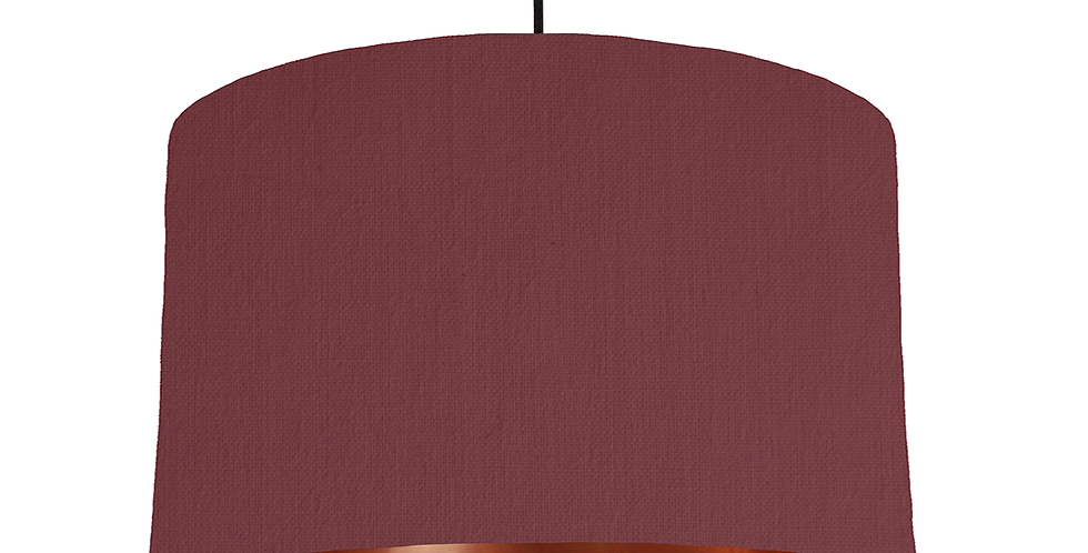 Wine Red & Copper Mirrored Lampshade - 40cm Wide