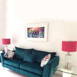 Cerise pink lampshade