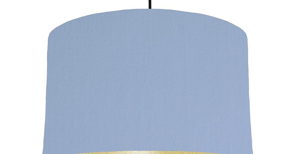 Sky Blue & Gold Matt Lampshade - 40cm Wide