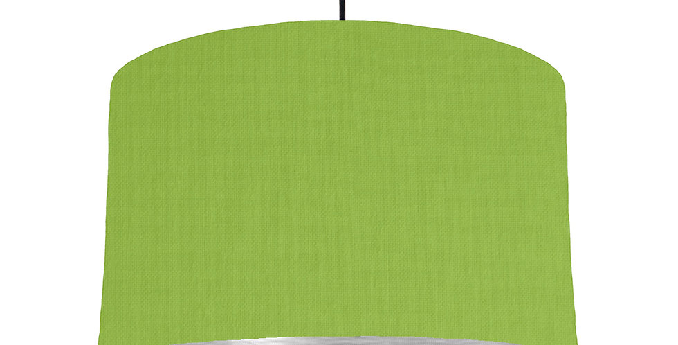 Pistachio & Brushed Silver Lampshade - 40cm Wide