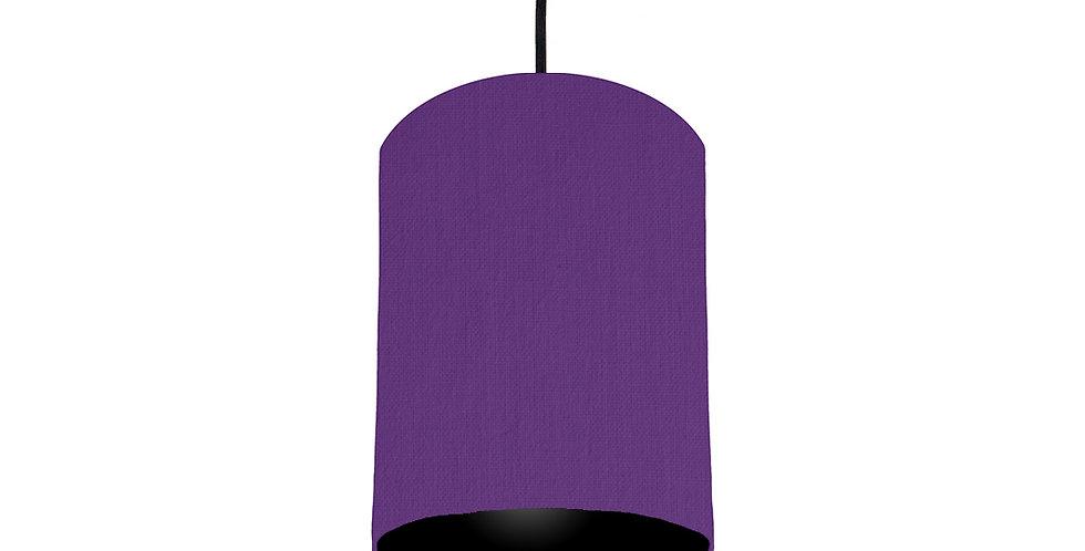 Violet & Black Lampshade - 15cm Wide