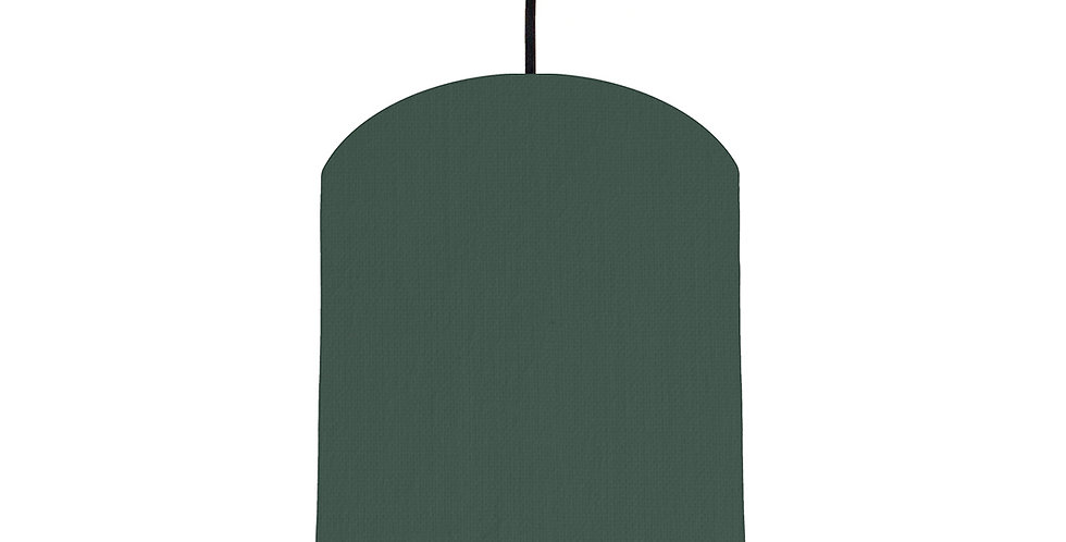 Bottle Green & Pink Lampshade - 20cm Wide
