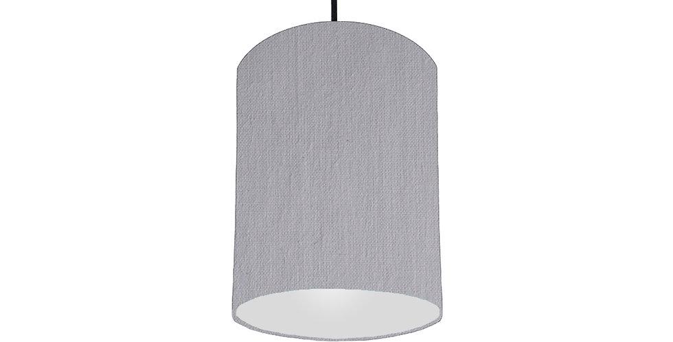 Light Grey & Light Grey Lampshade - 15cm Wide
