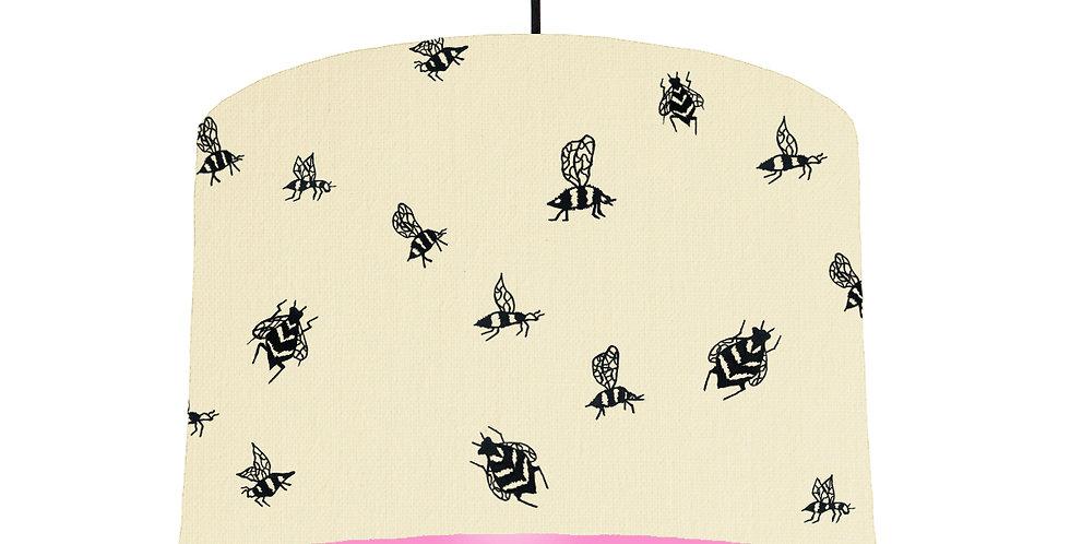Bumble Bee Lampshade - Natural & Pink