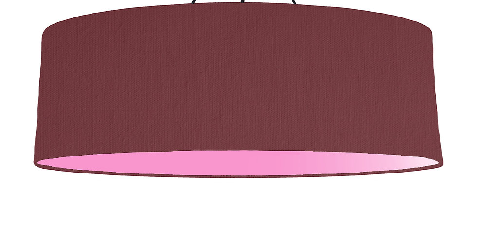 Wine Red & Pink Lampshade - 100cm Wide