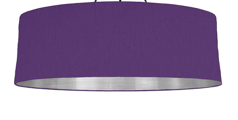 Violet & Brushed Silver Lampshade - 100cm Wide