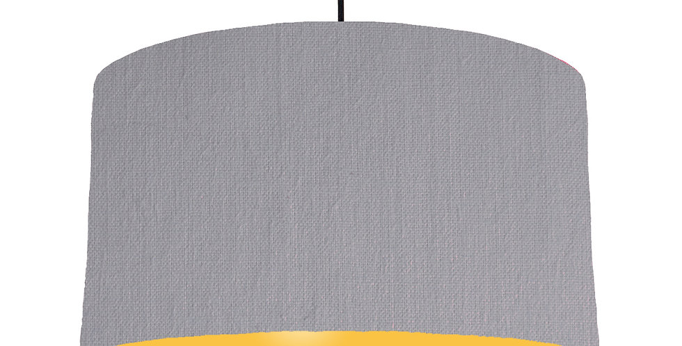 Light Grey & Butter Yellow Lampshade - 50cm Wide