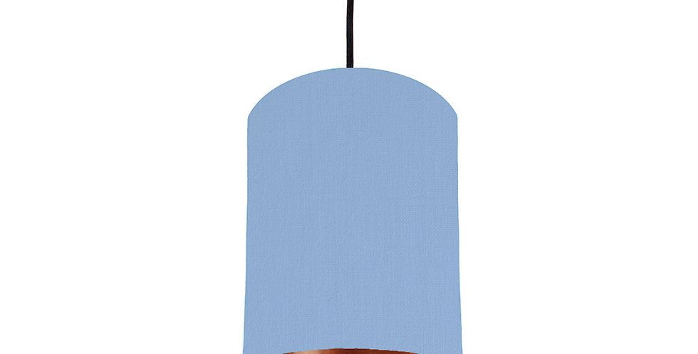 Sky Blue & Copper Mirrored Lampshade - 15cm Wide