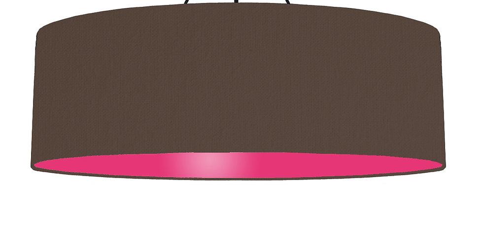 Brown & Magenta Pink Lampshade - 100cm Wide
