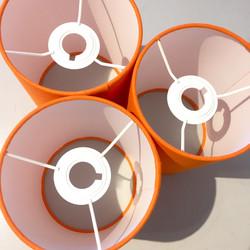 Orange lampshades