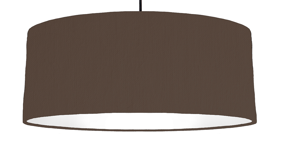 Brown & White Lampshade - 70cm Wide