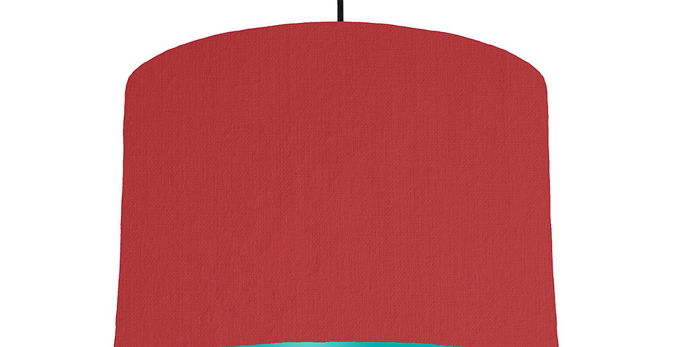 Red & Turquoise Lampshade - 30cm Wide