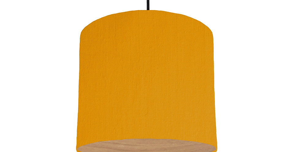 Mustard & Wood Lined Lampshade - 25cm Wide