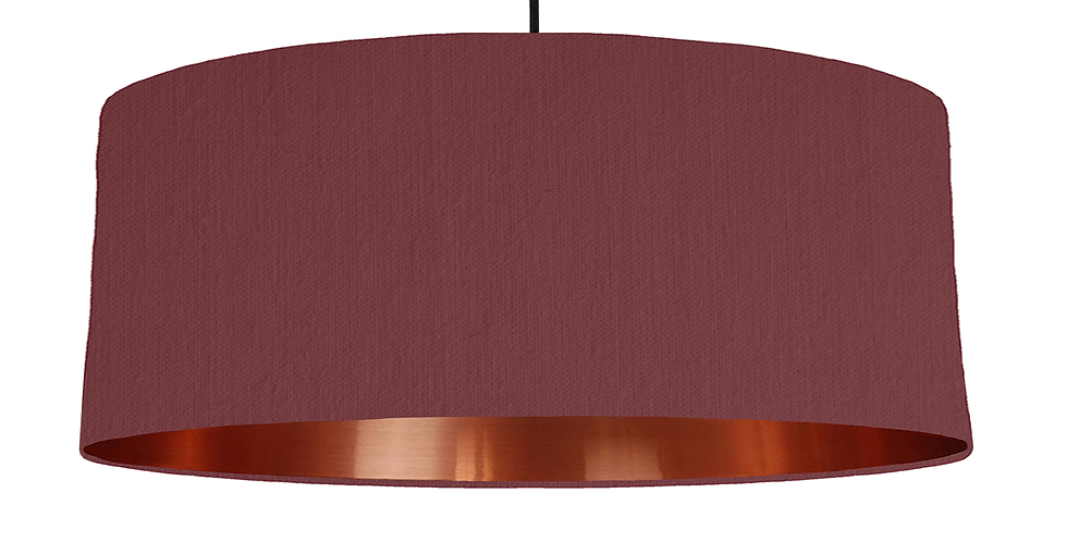 Wine Red & Copper Mirrored Lampshade - 70cm Wide