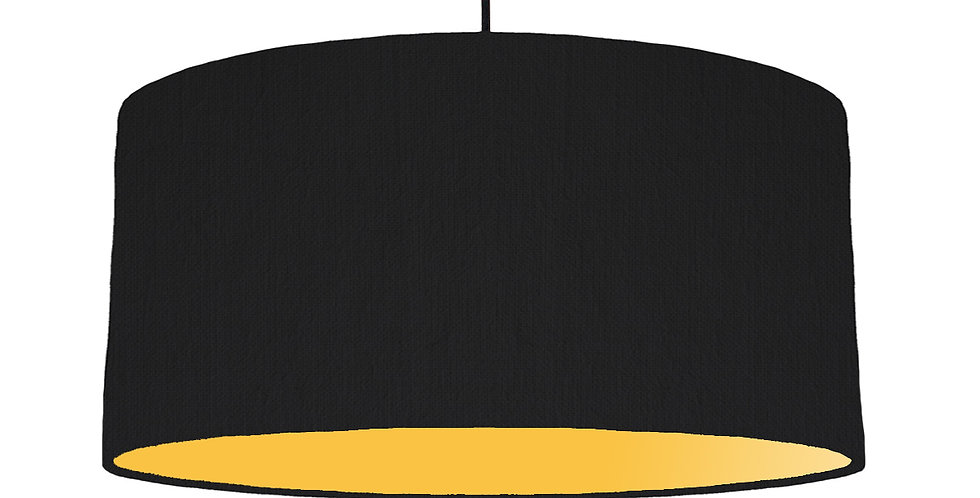 Black & Butter Yellow Lampshade - 60cm Wide