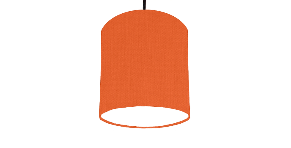 Orange & White Lampshade - 15cm Wide