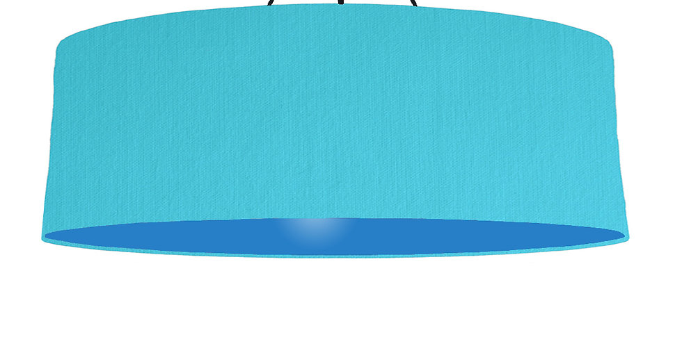 Turquoise & Bright Blue Lampshade - 100cm Wide