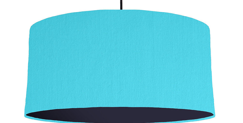 Turquoise & Navy Lampshade - 60cm Wide