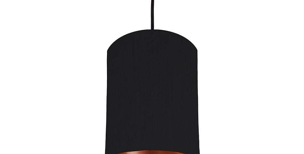 Black & Copper Mirrored Lampshade - 15cm Wide