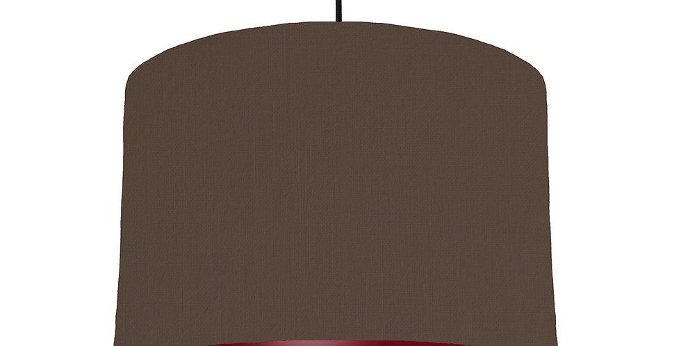 Brown & Burgundy Lampshade - 30cm Wide