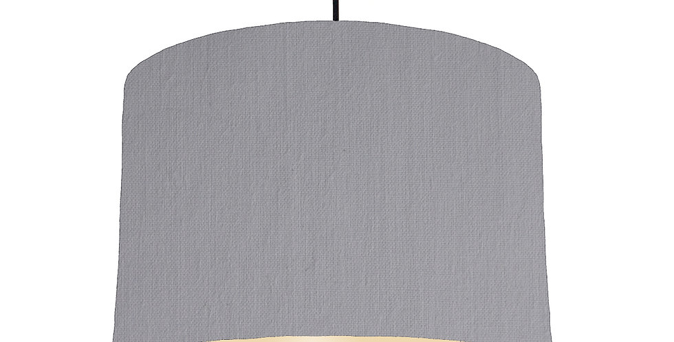 Light Grey & Ivory Lampshade - 30cm Wide