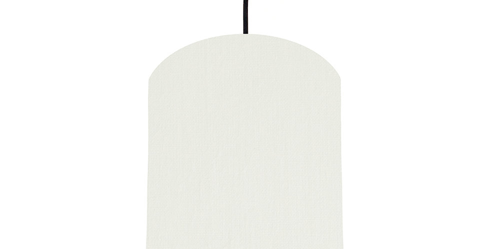 White & Wood Lined Lampshade - 20cm Wide