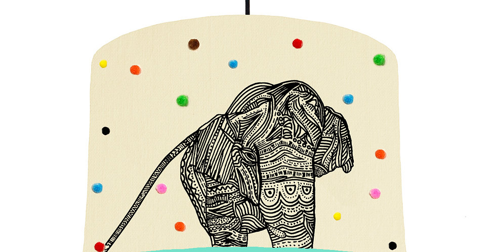 Elephant Pom Pom Lampshade - Choose From 19 Lining Colours