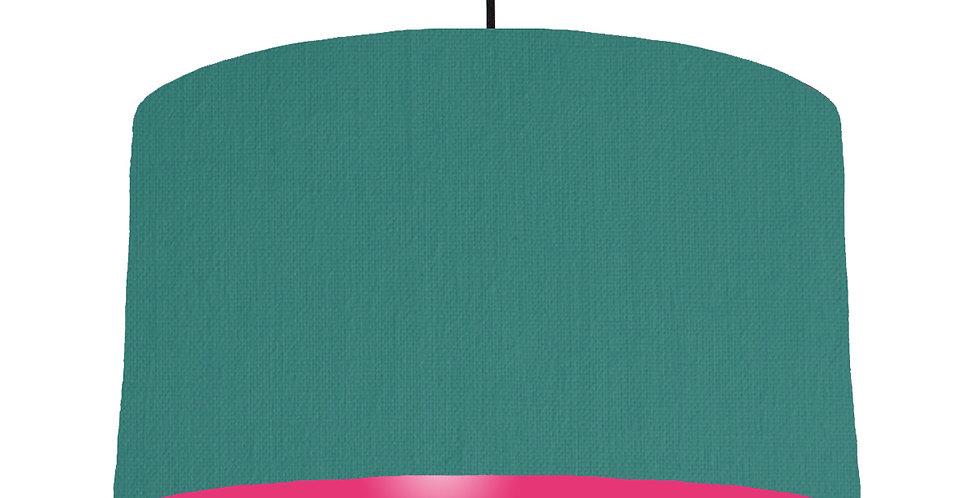 Jade & Magenta Lampshade - 50cm Wide