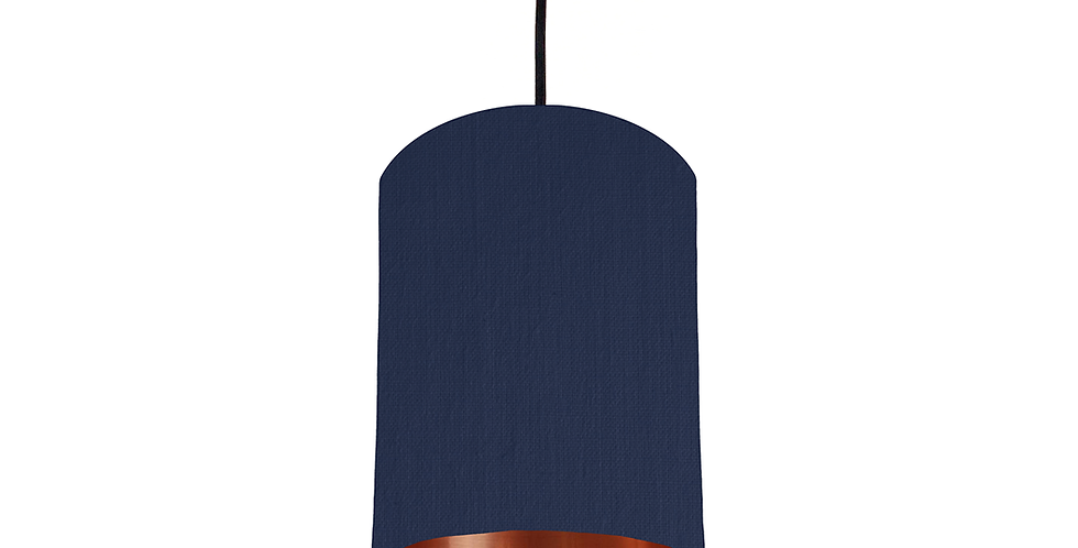 Navy & Copper Mirrored Lampshade - 15cm Wide
