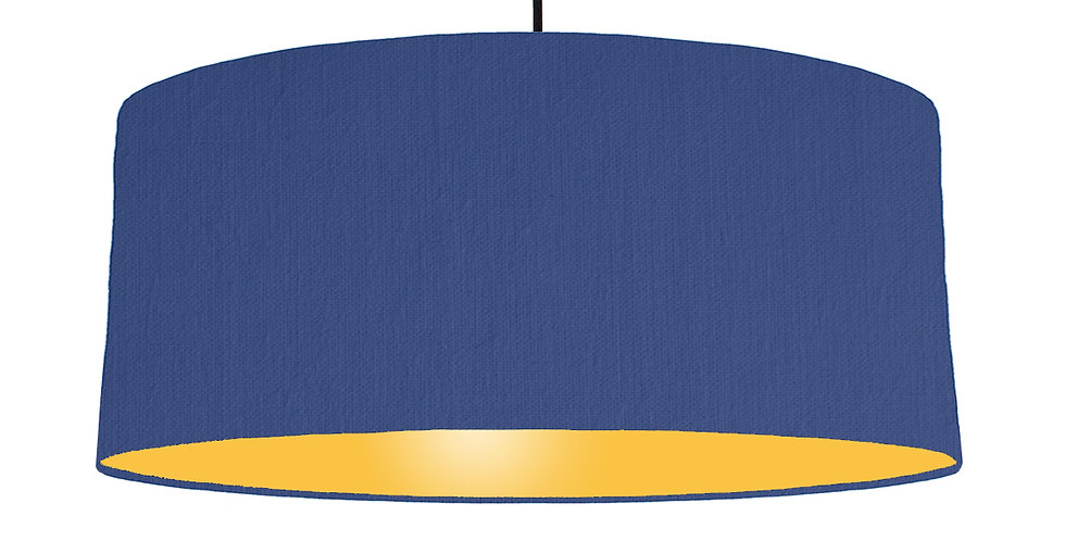 Royal Blue & Butter Yellow Lampshade - 70cm Wide
