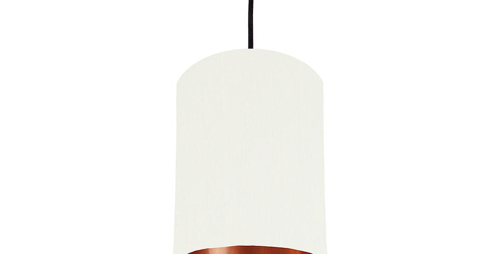 White & Copper Mirrored Lampshade - 15cm Wide