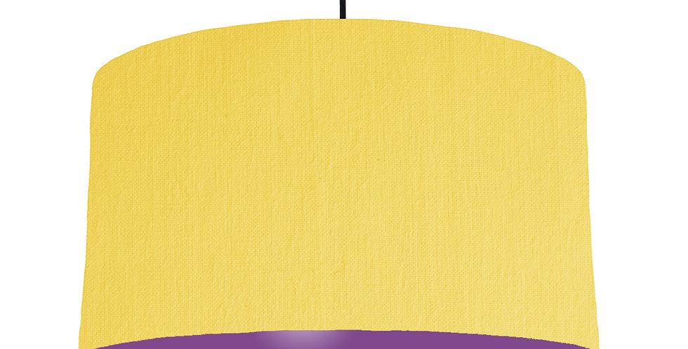Lemon & Purple Lampshade - 50cm Wide