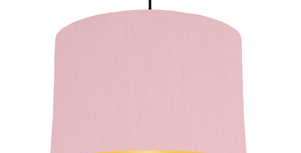 Pink & Butter Yellow Lampshade - 30cm Wide