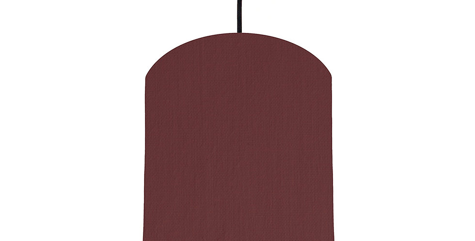 Wine Red & Magenta Lampshade - 20cm Wide