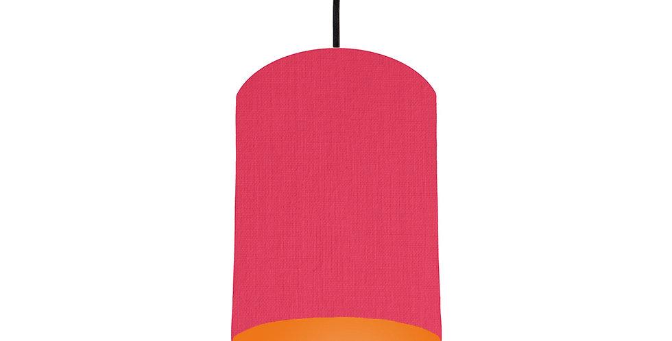Cerise & Orange Lampshade - 15cm Wide