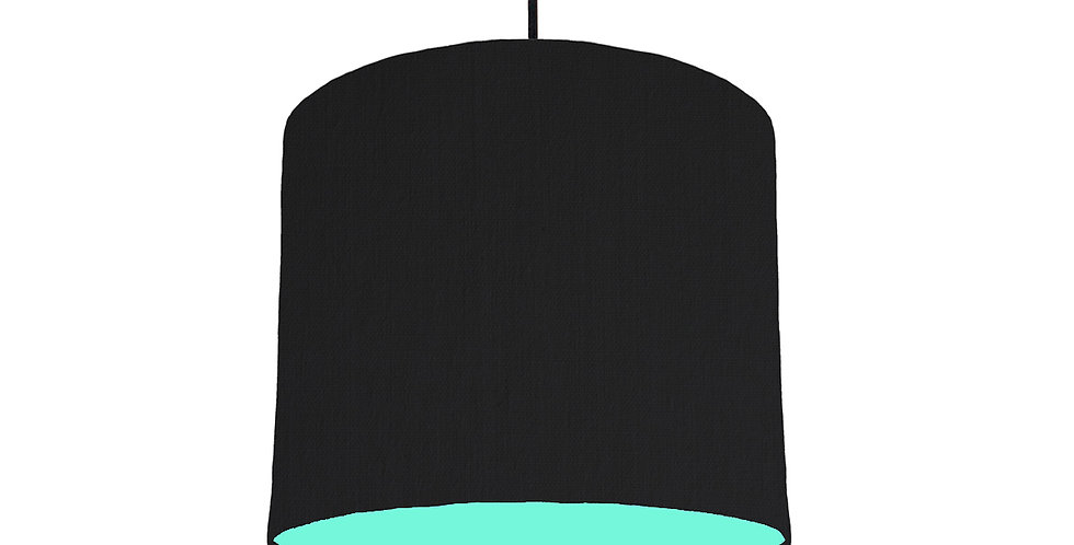 Black & Mint Lampshade - 25cm Wide