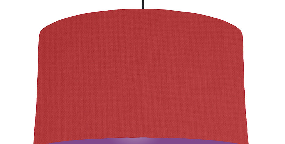 Red & Purple Lampshade - 50cm Wide