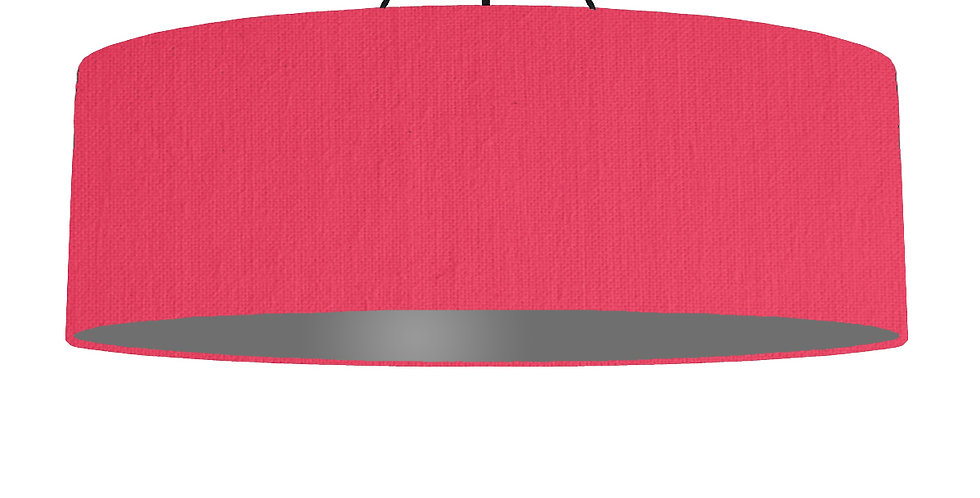 Cerise & Dark Grey Lampshade - 100cm Wide
