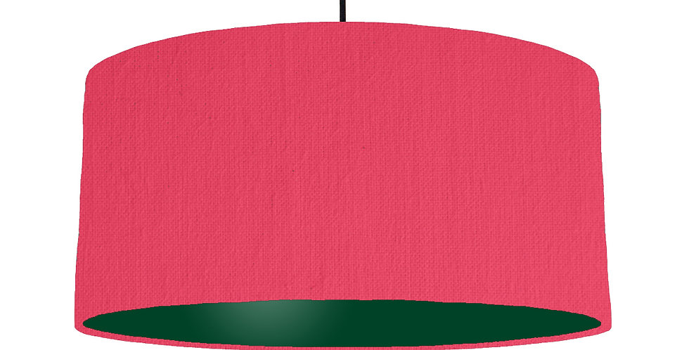 Cerise & Forest Green Lampshade - 60cm Wide