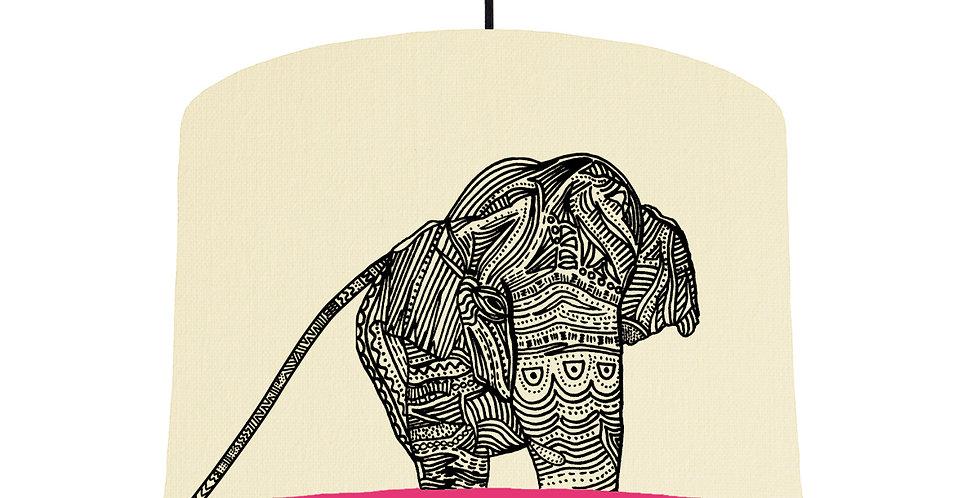 Elephant - Natural & Magenta