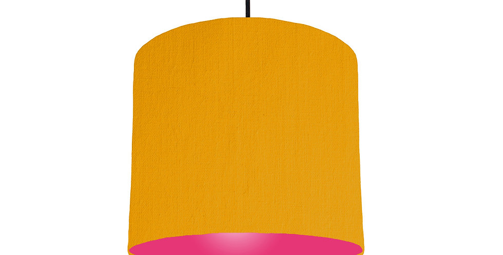 Mustard & Magenta Lampshade - 25cm Wide