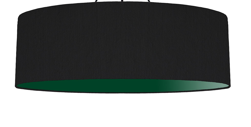Black & Forest Green Lampshade - 100cm Wide