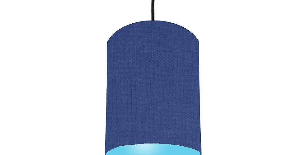 Royal Blue & Light Blue Lampshade - 15cm Wide