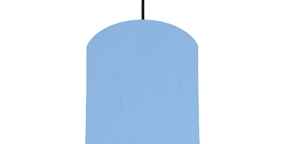 Sky Blue & Silver Mirrored Lampshade - 20cm Wide