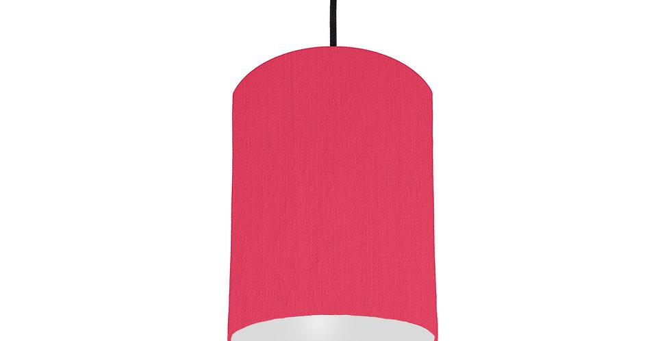Cerise & Light Grey Lampshade - 15cm Wide